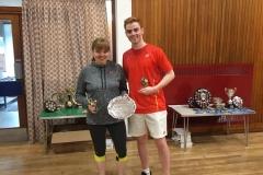 Balloted Mixed Doubles Winners: Elizabeth McAuley (Orchardhill) Sam Hume (Eaglesham)