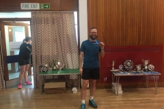 Consolation Gents singles runner up: Laurence Anderson (Old Parish)