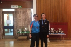 Consolation Ladies Doubles Runners Up: Shona Fisher and Alex Fletcher (Orchardhill)