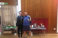 Consolation Mixed Doubles Runners Up: Alex Fletcher and Grant Anderson (Orchardhill)