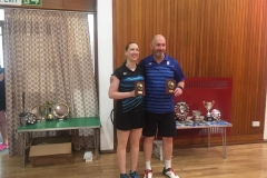 Consolation Mixed Doubles Winners: Helen-Black and Iain Bennett (Orchardhill)