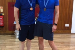 Consolation gents doubles runners up: Andy Gall and Pete Chan (Orchardhill)