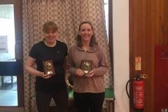 Consolation ladies doubles winners: Rachel Denholm and Elizabeth McAuley (Orchardhill)