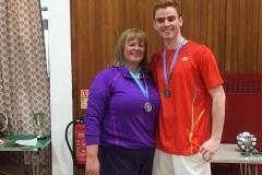 Mixed Doubles Runners Up - Anne Jamieson & Sam Hume (Eaglesham)