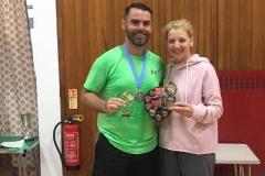 Mixed Doubles Winners - Gillian Williamson & Stephen Hendry (Eaglesham)
